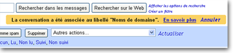 Le retour visuel sur Gmail