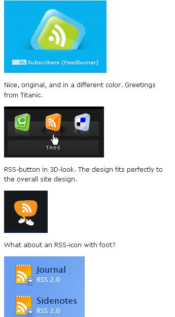 Meilleurs pratiques du design RSS