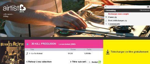Airtist - Téléchargement gratuit de musique : Morceau