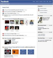 Web application : Facebook News Feed