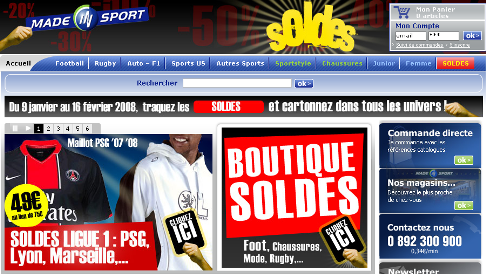 Ecommerce : Soldes - Made in sport
