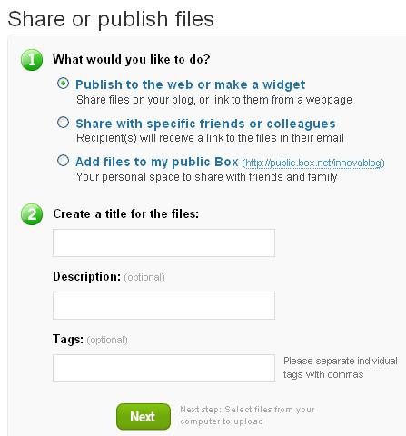 Partage & stockage de fichiers - Box.net - Share Wizard