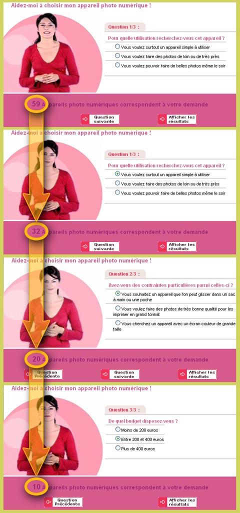 Compario : Agent conversationnel, Process de choix du produit