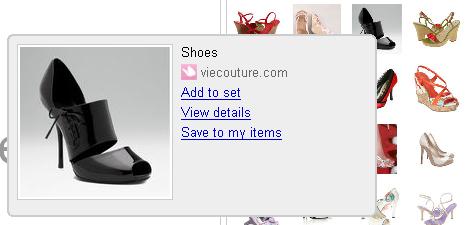 E-commerce Polyvore - Fiche produit exemple