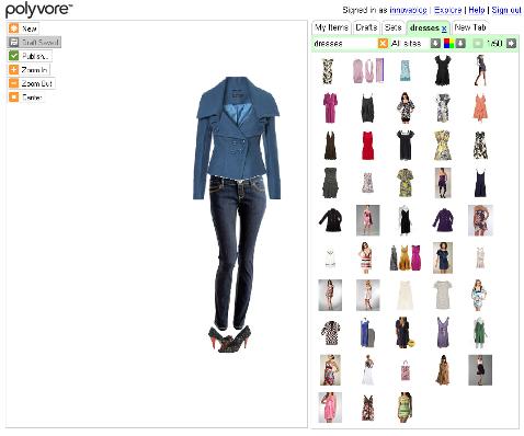 E-commerce Polyvore - Publication projet Set