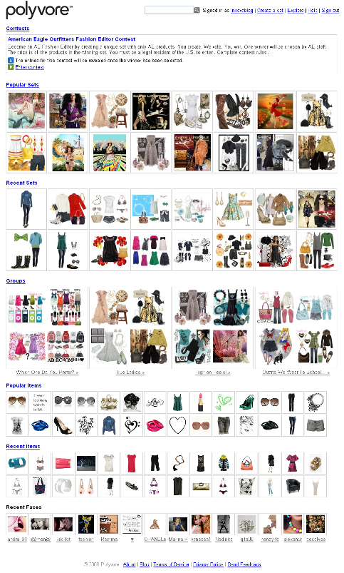 E-commerce Polyvore - Social shopping