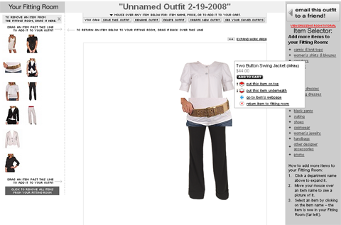 E-commerce Rampage - Outfit builder