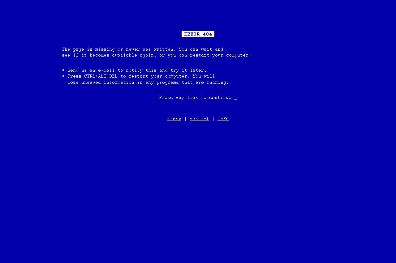 Page erreur 404 : Galiacho