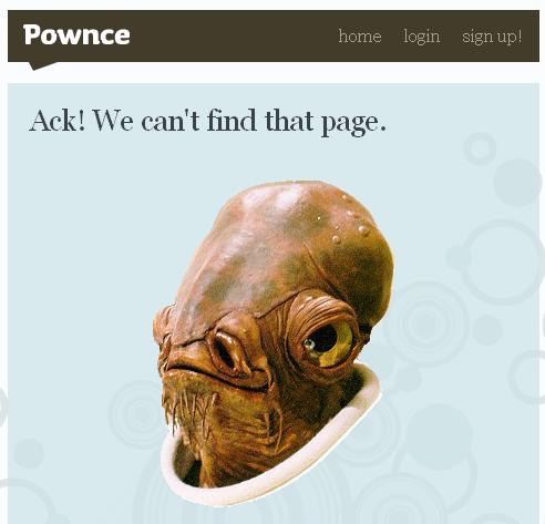 Page erreur 404 : Pownce
