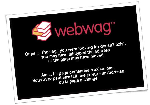 Page erreur 404 : Webwag