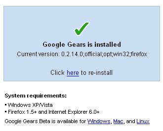 Google Reader installation