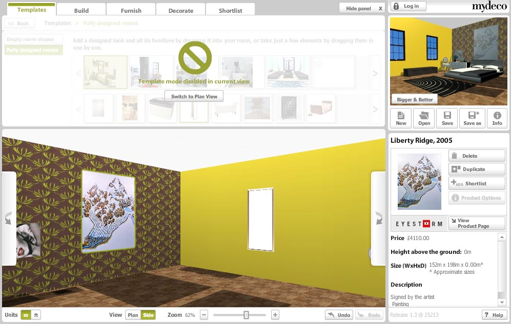 Mydeco.com : Plan my room vue 3D 3