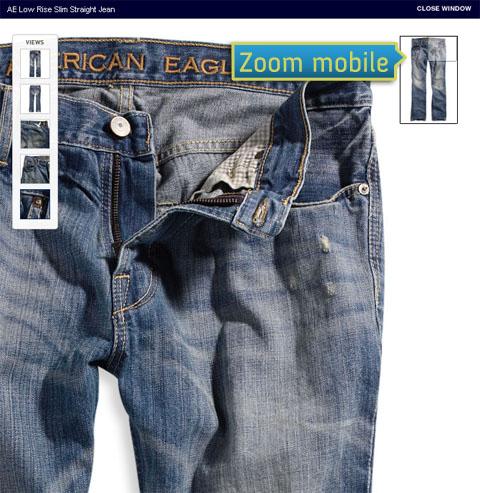 Fiche produit : un zoom mobile pour mieux découvrir le produit