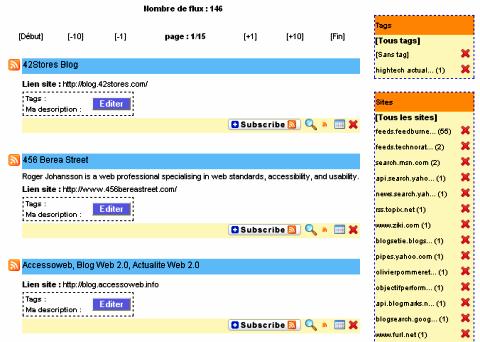 Crossfeed : import flux RSS