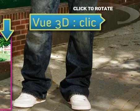 Fiche produit, vue 3D
