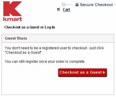 Checkoout process : Kmart, guest