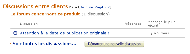 Ecommerce et Web 2.0 : discussions chez Amazon