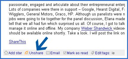 Google Reader Share
