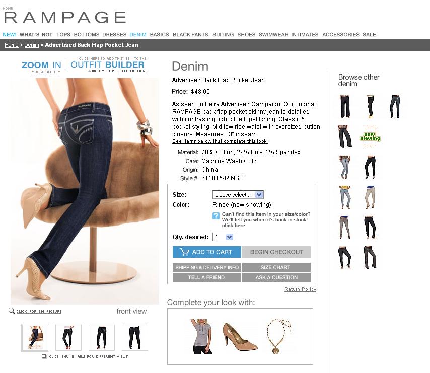 Landing page Rampage