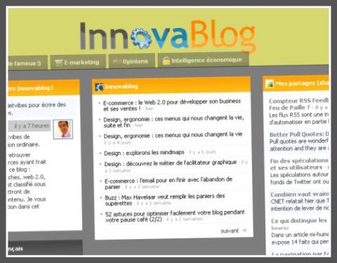 Netvibes Univers Innovablog