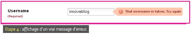 Shopflick : formulaire d'inscription, étape 4