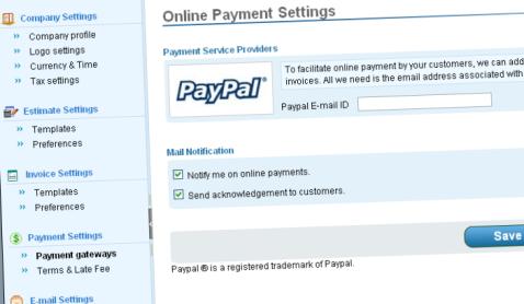 Zoho Invoice - Setting & Paramétrage