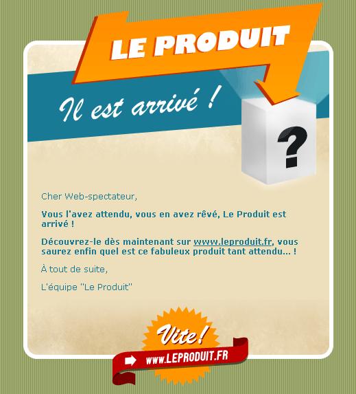 Buzz, Le produit.fr : emailing
