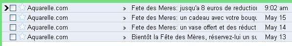 E-mailing Aquarelle