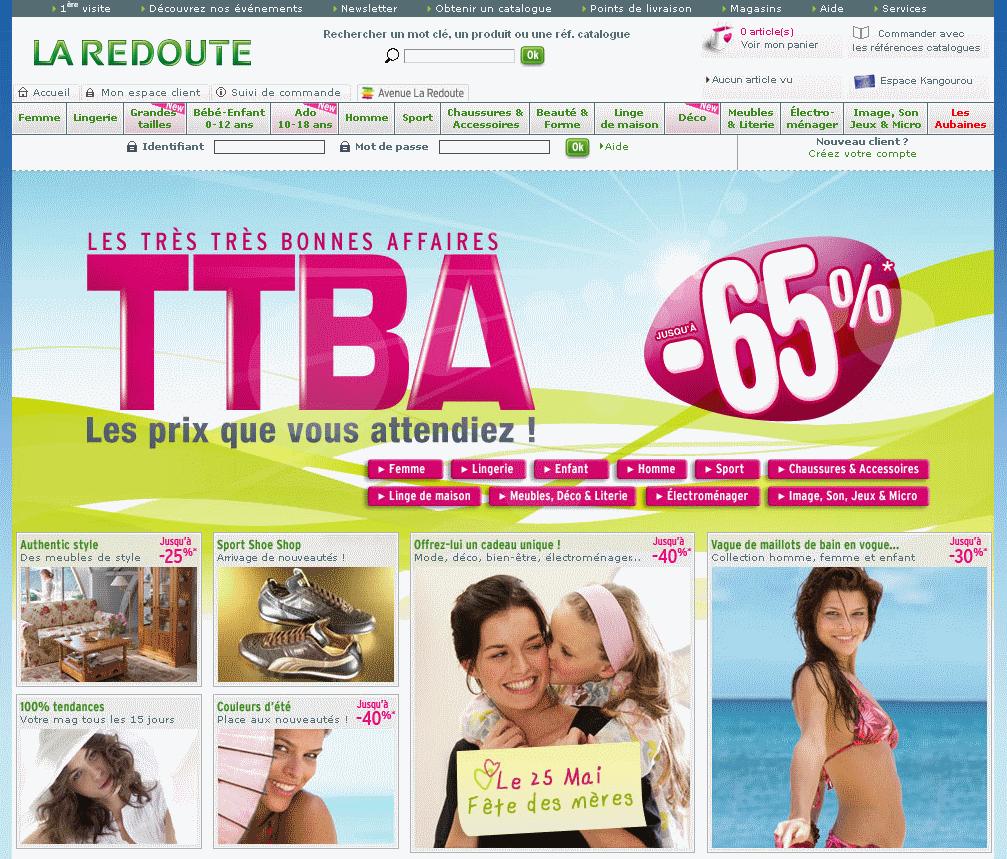Fêtes des mères e-commerce 2008 : La Redoute