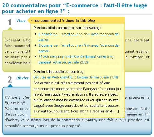 Plugin Wordpress commentaires Innovablog