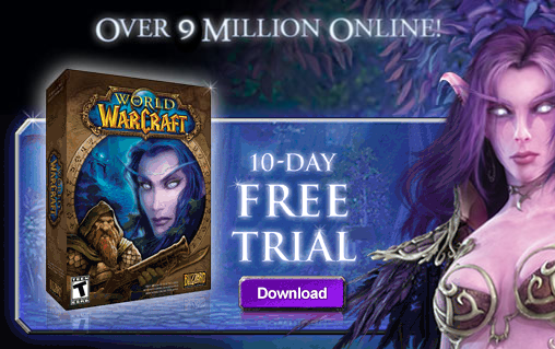Le free trial de World of Warcarft