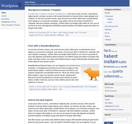 Thme Wordpress Facebook