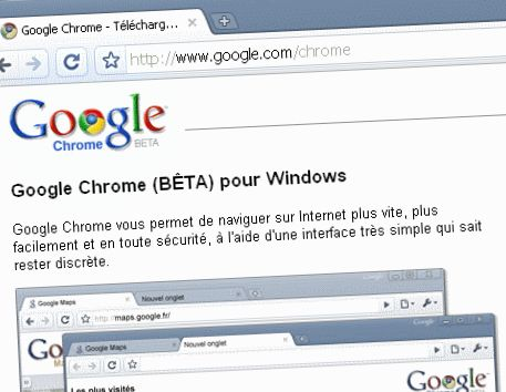 Google Chrome Page d'accueil